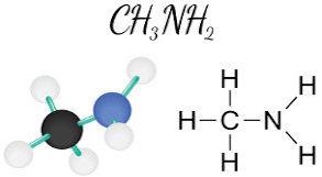 Fórmulas químicas da Metilamina