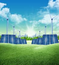 Desenho de uma usina solar