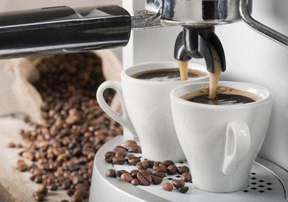 Café em máquina
