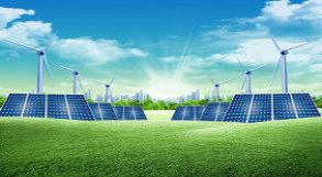 Desenho de usinas de energia solar e eólica