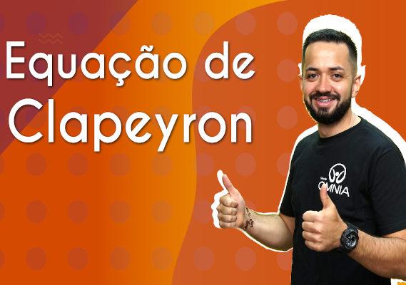 Thumbnail com o professor da videoaula sobre Equação de Clapeyron