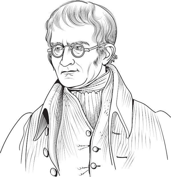 O químico inglês John Dalton é considerado o pai da teoria atômica moderna.