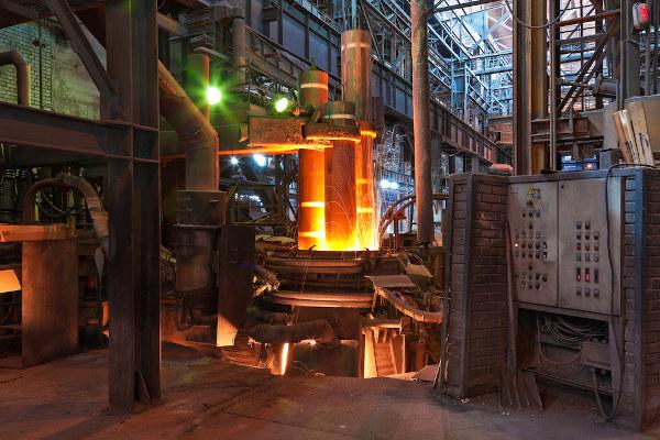 O forno metalúrgico é utilizado para processo de fundição.