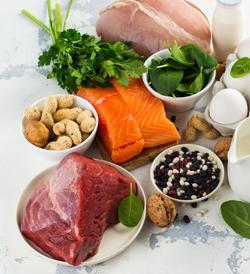Carnes, peixe, ovos e outras coisas ricas em proteínas