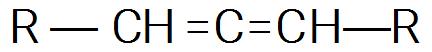 Fórmula estrutural geral de um alcadieno qualquer