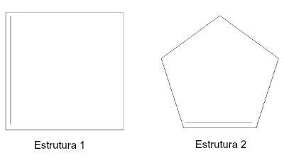 Exemplos de ciclenos representados por figuras geométricas