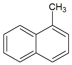 Fórmula estrutural do α-metil-naftaleno