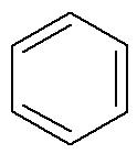 Fórmula estrutural de um aromático