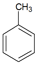 Fórmula estrutural do Metil-benzeno