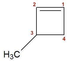 Exemplo de numeração de um cicleno ramificado