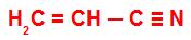 Fórmula estrutural da acrilonitrila