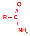 Fórmula estrutural geral de uma amida