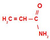 Fórmula estrutural da acrilamida