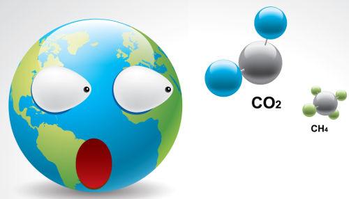 O metano é um dos gases que provocam o efeito estufa
