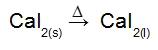 Equação da fusão do sal