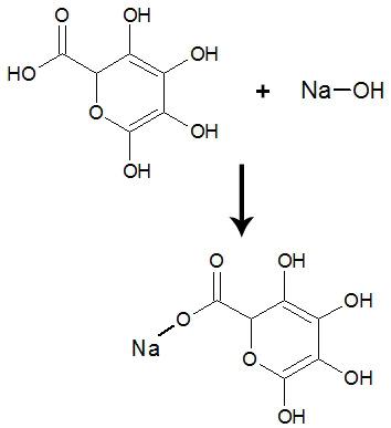 Equação de formação do sal de ácido carboxílico
