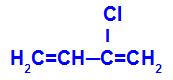 Fórmula estrutural do 2-cloro-but-1,3-dieno