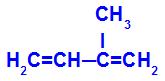 Fórmula estrutural do 2-metil-but-1,3-dieno