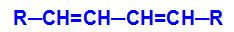 Fórmula estrutural geral de um alcadieno conjugado
