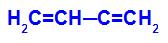 Fórmula estrutural do but-1,3-dieno