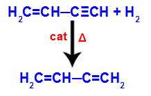 Equação representando a formação do but-1,3-dieno