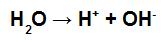 Equação que representa a autoionização da água