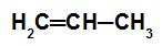 Fórmula estrutural do propeno