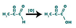 Representação da formação do ácido carboxílico