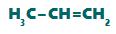 Fórmula estrutural de um alceno qualquer