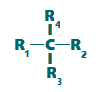 Representação geral de um carbono quiral