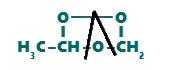 Representação da quebra das ligações simples no ozoneto