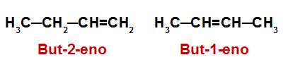 Fórmulas estruturais dos alcenos analisados