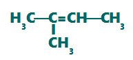Fórmula estrutural do 2-metil-but-2-eno