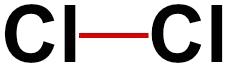 Fórmula estrutural do gás cloro
