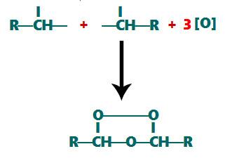 Formação do ozoneto na ozonólize em alcenos