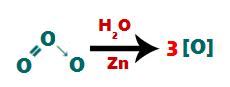 Quebra das ligações entre os oxigênios na molécula do ozônio