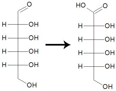 Equação da oxidação da molécula de glicose em meio ácido
