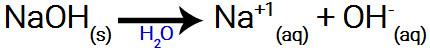 Equação genérica de dissociação do NaOH