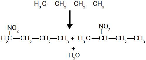 Possíveis nitrocompostos formados na nitração do butano