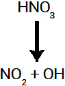 Rompimento da ligação sigma no ácido nítrico