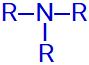 Fórmula estrutural geral de uma amina terciária