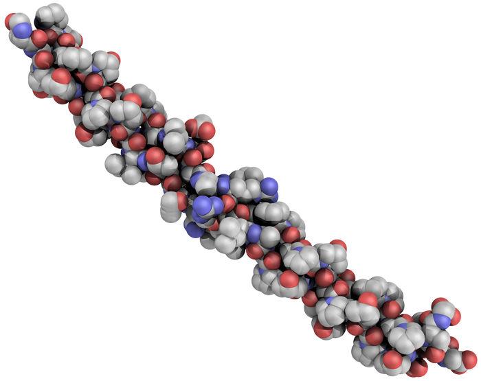 Representação da estrutura do colágeno
