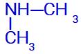 Fórmula estrutural de uma amina com dois radicais