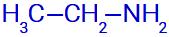 Fórmula estrutural de uma amina com um radical