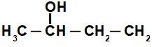 Fórmula estrutural do Butan-2-ol
