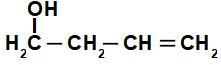 Fórmula estrutural de álcool de cadeia insaturada