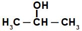 Fórmula estrutural de álcool de cadeia maior