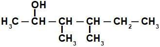 Fórmula estrutural de álcool de cadeia ramificada