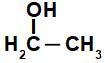 Fórmula estrutural de álcool de cadeia pequena