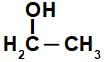 Fórmula estrutural do etanol